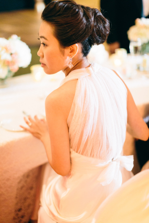 Sheer Back Wedding Gown