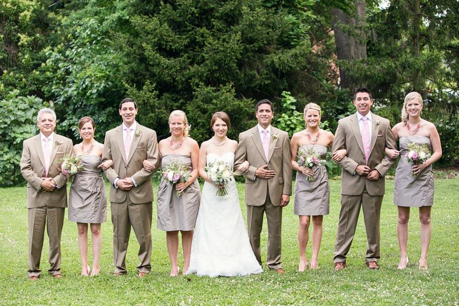 9164d15c5ab Short Strapless Taupe Bridesmaids Dresses - Elizabeth Anne Designs ...