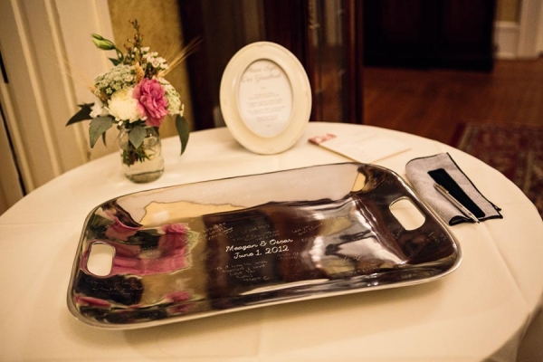 Silver Tray Guest Book