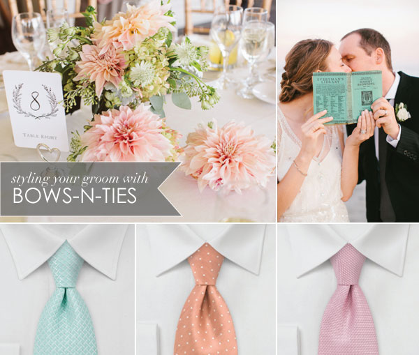 Soft Teal and Peach Wedding Palette