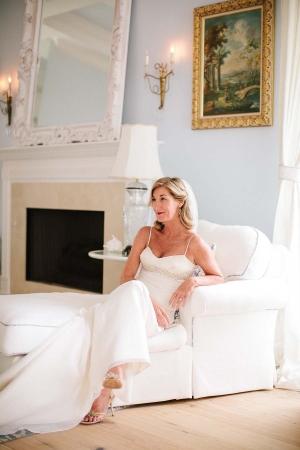 Spaghetti Strap Bridal Gown With Rhinestone Waist