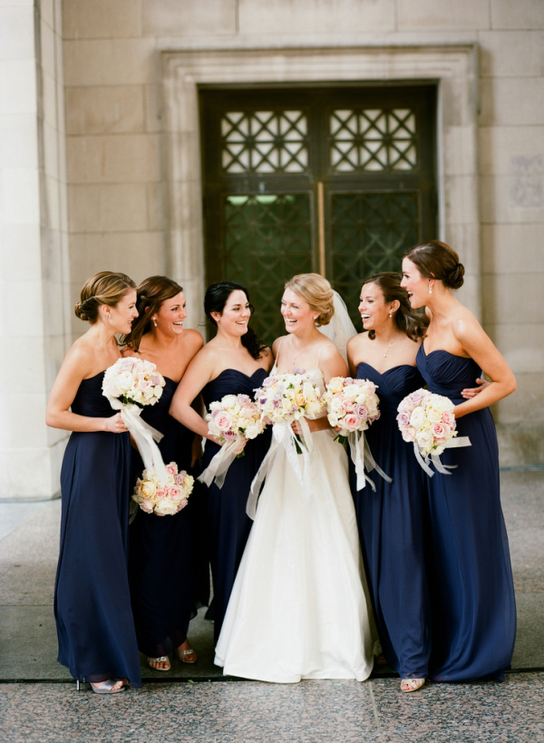 Strapless Navy Bridesmaid Dresses - Elizabeth Anne Designs: The ...