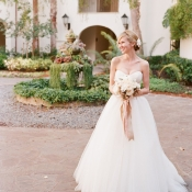 Strapless Wedding Gown With Tulle Skirt