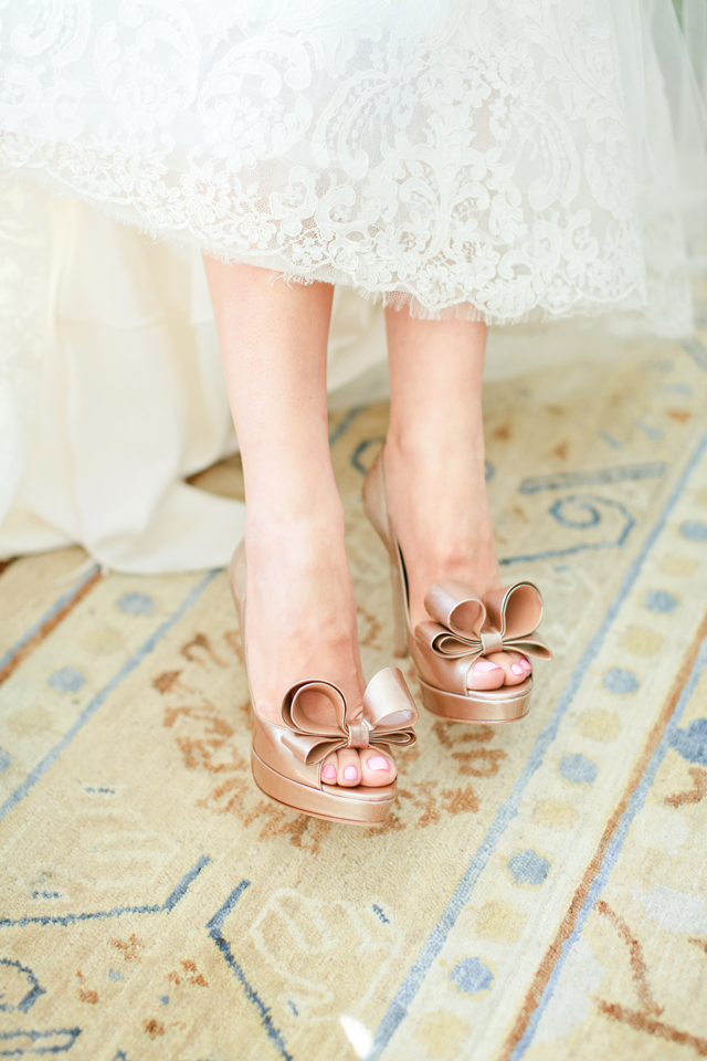 Taupe Wedding Shoes With Bows