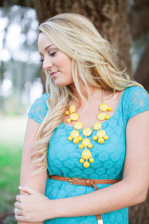 Turquoise and Yellow Engagement Fashion Ideas