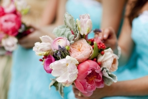 Variegated Pink and Cream Bouquet