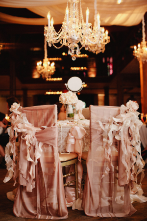 Vintage Chair Covers With Bows and Lace