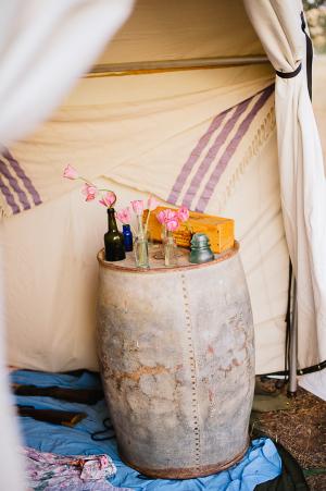 Vintage Flower Vignette in Tent