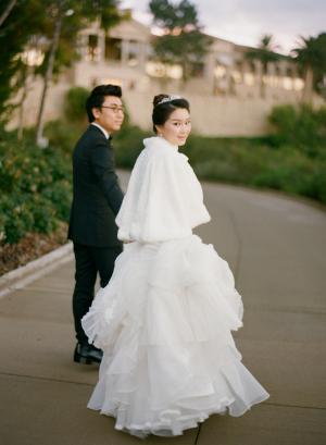 White Fur Bridal Capelet