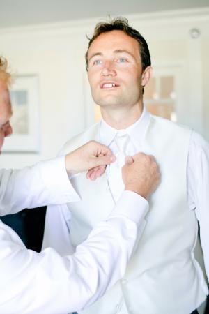 White Grooms Tie and Vest