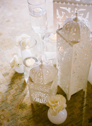 White Metal Lanterns Ceremony Decor