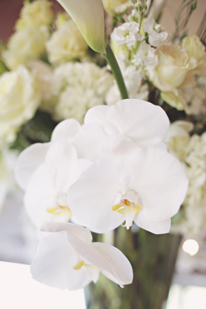 White Orchid Ceremony Decor