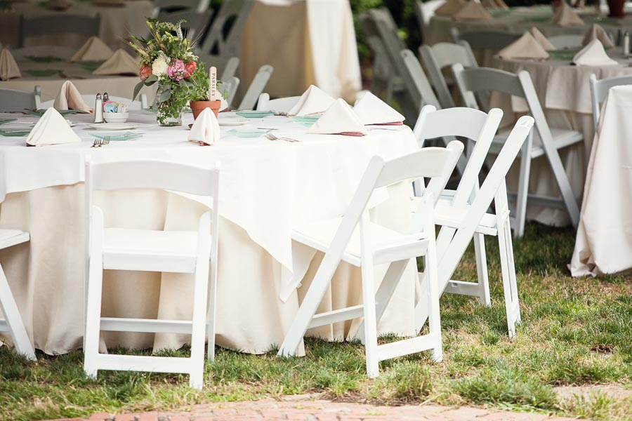 White And Cream Outdoor Reception Table Decor Elizabeth Anne Designs The Wedding Blog