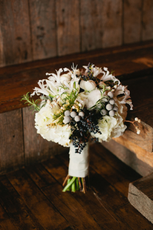 White and Gray Winter Bouquet
