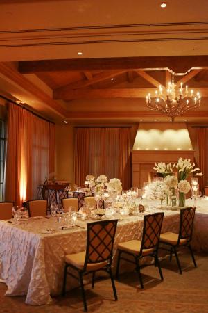 White and Ivory Ballroom Reception Decor