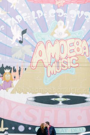 Amoeba Music Mural in Los Angeles