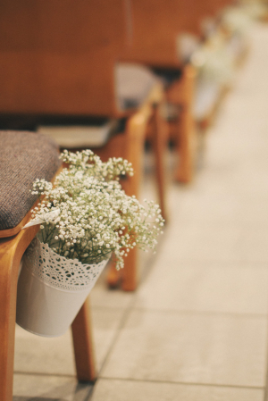 Babys Breath Ceremony Aisle Decor