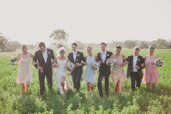 Beautiful Soft Pastel Bridal Party