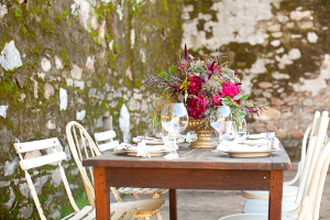 Berry and Brown Wedding Table