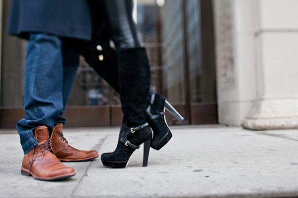 Black Suede Boots With Buckles