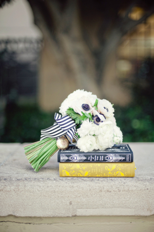 Black and White Ribbon Bouquet