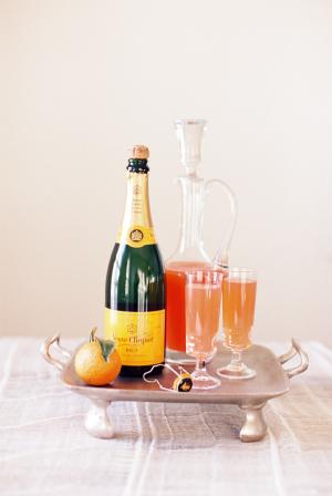 Blood Orange Champagne Cocktail
