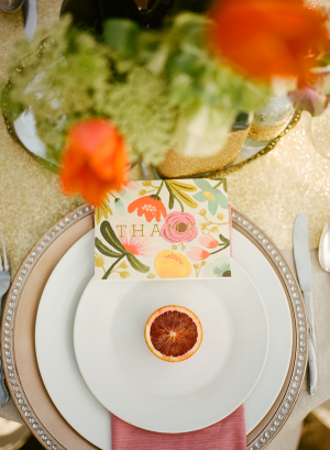 Blood Orange Place Setting
