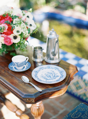 Blue and White China Setting