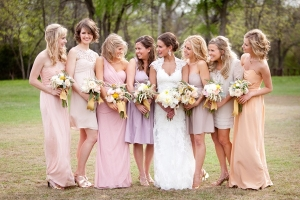 Blush and Lavender Bridesmaids Dresses