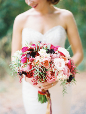 Bold Rose Bouquet With Greenery