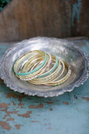 Bracelets in Silver Dish