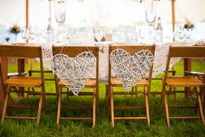 Branch Hearts Chair Decorations