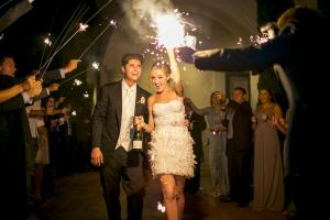 Bride Getaway Feathered Mini Dress