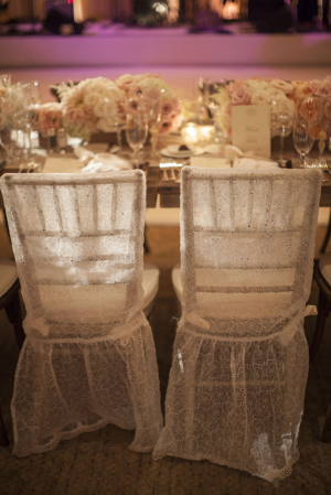 Bride and Groom Lace Chair Covers