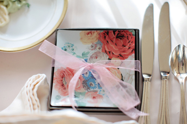 Bright Floral China Plates