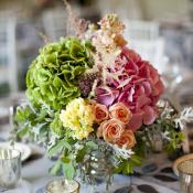 Bright Spring Floral Reception Centerpiece