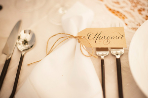 Brown Tag Place Card With Twine