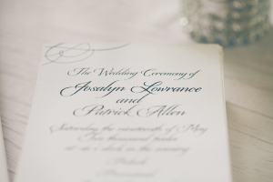 Classic Black and White Wedding Program
