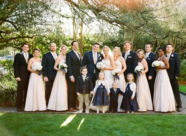 Classic Navy Blush Bridal Party