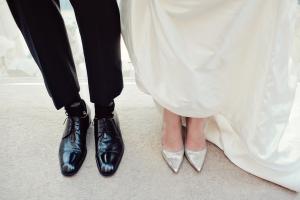 Classic Silver Heels Bride
