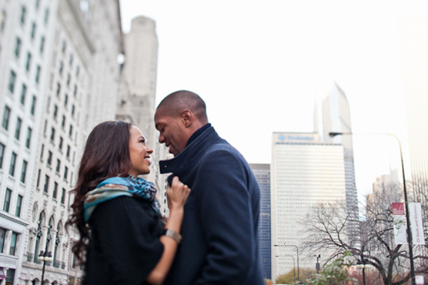 Couple in Downtown Chicago Gerald Carvalho Photography