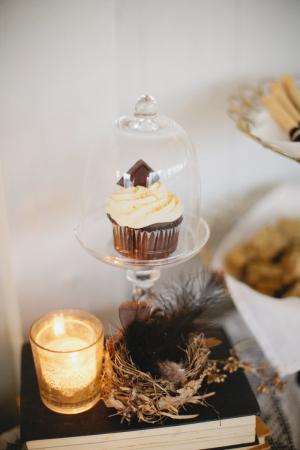 Cupcake in Glass Huricane