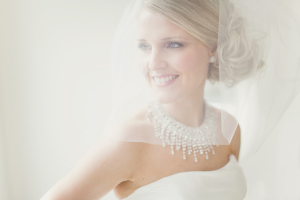 Curled Side Knot Bridal Updo Ideas