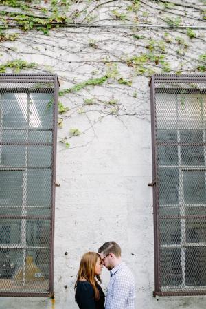 Downtown LA Engagement Portrait