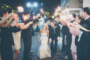 Downtown Reception Sparkler Exit