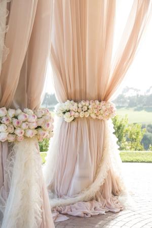 Elegant Flowing Wedding Gazebo