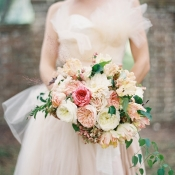 Elegant Peach Bride