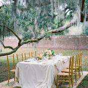 Elegant Peach Wedding Table