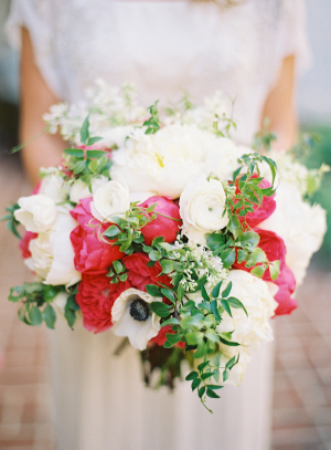 Elegant White Hot Pink Bouquet