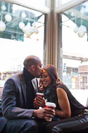 Engagement Photos in Coffee Shop